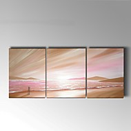 Handpainted Abstract Sunrise at sea Oil Painting Home Decor Stretchered Frame