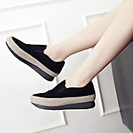 Women's Loafers & Slip-Ons Spring / Summer / Fall Platform Suede Casual Platform Split Joint Black Others