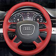 Audi A4L A6L q3 q5 q7 s8 bőr velúr kézzel varrott kormánykerék fedél
