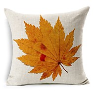 Polyester Decorative Cushion Pillow Cover Print Plant Leaves Sofa Home Decor 45x45cm