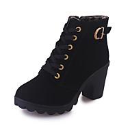 Для женщин Ботинки Удобная обувь Армейские ботинки Полиуретан Осень Зима Повседневные Удобная обувь Армейские ботинки МолнииНа толстом