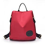 Alltag Im Freien Einkauf Rucksack Damen Nylon Lila Blau Rot Schwarz
