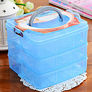 Storage Box Three Layers Transparent For Small Things Decorate Jewelry (Random Colours)