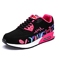 Women's Sneakers Spring / Fall Comfort PU Casual Flat Heel  Black / Pink / Purple / Red Sneaker