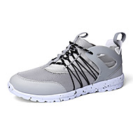 Men's Sneakers Shoes Fashion Tulle Shoes Athletic Flat Heel Lace-up Black / Red / Gray Running Breathable EU39-43