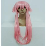 anime gasai yuno 80cm lang rett lys rosa cosplay parykk Halloween kostyme parykk