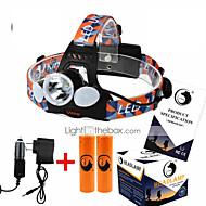 Osvětlení Svítilna na krk LED 6000LM Lumenů 4.0 Režim Cree XM-L T6 18650 Dobíjecí / Kompaktní velikost / High PowerKempování a turistika