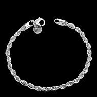 forsølvet kobber kæde armbånd smykker
