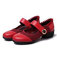 Sapatos de Dança(Preto / Vermelho) -Feminino-Não Personalizável-Latina / Jazz / Tênis de Dança / Moderna