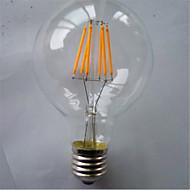 6W E26/E27 Lâmpadas de Filamento de LED G80 6 SMD 5730 420 lm Branco Quente / Amarelo Decorativa V 1 pç