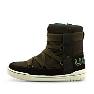 Boy's Boots Fall / Winter Comfort PU / Suede Casual Flat Heel Zipper / Lace-up Brown Others