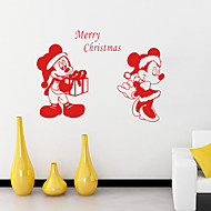 Merry Christmas  Wall Stickers Plane s Decorative svinyl Material Washable / Re-Positionable Home Decoration Wall Decal