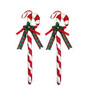 1pc jul ferie party charms festival ornamenter indretning kærlighed hjem attraktiv 1 stk farverige lille et sæt krykke