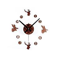 מודרני / עכשווי / רטרו בעלי חיים / חופשה / מעורר השראה / סרט מצויר / משפחה שעון קיר,עגול / מצחיק אקרילי / זכוכית 30cm(12in) בבית/ בטבע