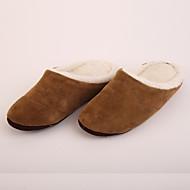 M.livelihood.H Men's Slippers & Flip-Flops Winter Slingback Wool Casual Flat Heel Others Brown Others-LB2016024