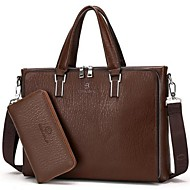 Men Cowhide Casual / Office & Career Tote Brown / Black / Khaki