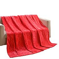 bedtoppings deka flanel korálové fleece falešný norek queen size 200x230cm červená pevná látka 320gsm