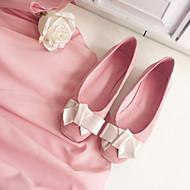 Women's Flats Spring Summer Fall Comfort Pigskin Casual Flat Heel Bowknot Pink Others