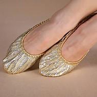 Kan ikke spesialtilpasses-Dame-Dansesko-Moderne-Lerret-Flat hæl-Gull