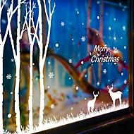 כריסטמס / אנימציה / חג מדבקות קיר מדבקות קיר מטוס מדבקות קיר דקורטיביות,PVC חוֹמֶר ניתן להסרה / ניתן למיקום מחדש קישוט הבית מדבקות קיר