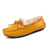 Women's Loafers & Slip-Ons Spring Fall Winter Comfort Leatherette Outdoor Office & Career Casual Flat Heel Black Yellow White