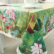 Obdélníkový Se vzorem / Květinový Ubrusy , Směs bavlny Materiál Hotel Jídelní stůl / Tabulka Dceoration