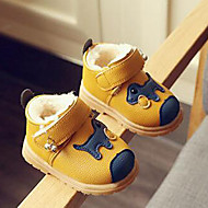 キッズ 男の子 赤ちゃん ブーツ コンフォートシューズ PUレザー 秋 冬 カジュアル コンフォートシューズ 面ファスナー イエロー レッド ブルー フラット