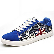 Men's Sneakers Spring Summer Fall Winter Other Canvas Outdoor Casual Athletic Flat Heel Lace-up Black Gray Royal Blue