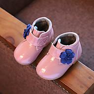 Boty-Lakovaná kůže-Jiné Pohodlné-Dívčí Děti-Černá Růžová Šedá-Běžné-Plochá podrážka