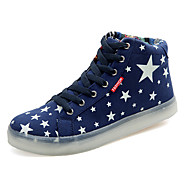 Unisex Sneakers Spring Summer Fall Winter Novelty Light Up Shoes Canvas Casual Athletic Party & Evening Black Blue White
