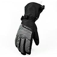 Ski-Handschuhe Vollfinger Damen / Herrn Sporthandschuhe Antirutsch / Wasserdicht / Schneedicht Handschuhe Snowboarding Winter Schwarz
