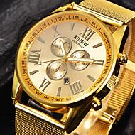 Relógio Esportivo Relógio Militar Relógio Elegante Relógio de Moda Relógio de Pulso Bracele Relógio Quartzo Mostrador GrandeAço