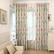 Jeden panel Window Léčba Země / Středomořský , Zvíře Obývací pokoj Materiál Blackout Záclony závěsy Home dekorace For Okno