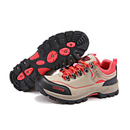 Women's Athletic Shoes Fall Comfort Suede Outdoor Flat Heel Lace-up Red Gray Hiking