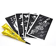 Airbrush tatoeages-Non Toxic / Patroon / Schitteren / Tatoeagepistool / Onderrrug / Cartoon / Kerstmis / Henna / Bruiloft