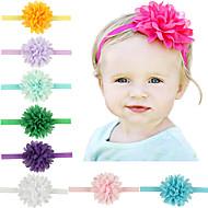 11pcs / набор новорожденных девочек шифон цветок оголовье todder аксессуары для волос младенца лента для волос
