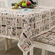 Obdélníkový Se vzorem / Sešívaný Ubrusy , Směs lnu a bavlny Materiál Hotel Jídelní stůl / Tabulka Dceoration