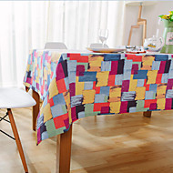 Square Patterned / Patchwork Table Cloth , Cotton Blend Material Hotel Dining Table / Table Decoration