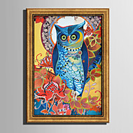 E-HOME® Framed Canvas Art Beautiful Parrot  Framed Canvas Print One Pcs