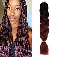 """1 paquet noir ombre rouge marron crochet 24 """"yaki kanekalon fibre 100g 2 ton jumbo tresses cheveux synthétiques"""