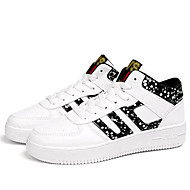 Men's Sneakers Spring Summer Fall Winter Platform Comfort PU Outdoor Casual Athletic Low Heel Lace-up Black White