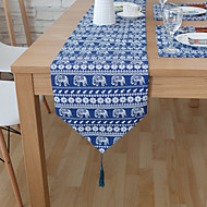Rectangular Patterned / Animal / Floral Table Runner , Linen Material Hotel Dining Table / Table Decoration