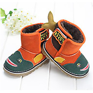Boy's Baby Boots Winter Other Fleece Outdoor Flat Heel Animal Print Green Orange Other