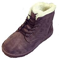 Støvler-Pels-Komfort-Dame-Sort Rød Grå Beige Nøgen-Udendørs Fritid-Flad hæl