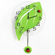 Moderne/Contemporain Niches Horloge murale,Autres Verre / Bois 24*43CM Intérieur Horloge