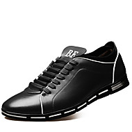 Men's Oxfords Spring Fall Winter Comfort Leatherette Casual Party & Evening Flat Heel Black Brown Red