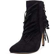 נשים-מגפיים-פרווה-גלדיאטור-שחור-שמלה / קז'ואל / מסיבה וערב-עקב סטילטו