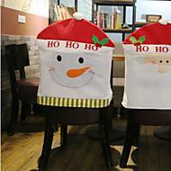 kreative snømann stol sett julepynt