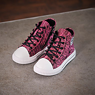 Girl's Sneakers Fall Comfort Canvas Casual Black / Green / Red