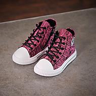 בנות-נעלי ספורט-קנבס-נוחות-שחור אדום ירוק-יומיומי